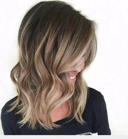 Delicate Balayage for Blonde Short Hair