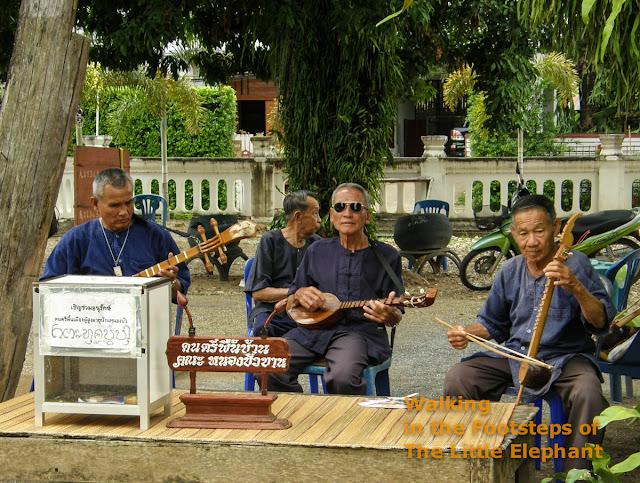 Old musicians at Wat Nong Bua - Nan Thailand