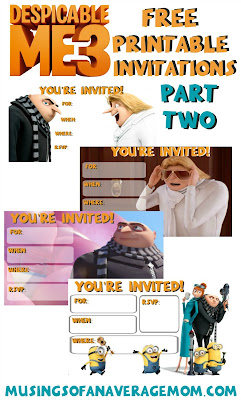 despicable me 3 invites