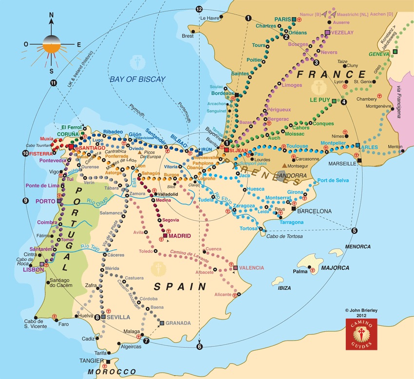 Geoff and lyn pound walking camino le puy camino le puy - St jean pied de port to santiago distance ...