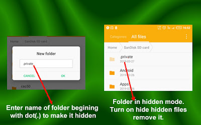 Hide private folders and files