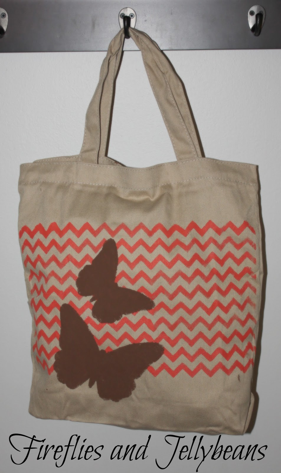 Fireflies and Jellybeans Stencil Tote Bags