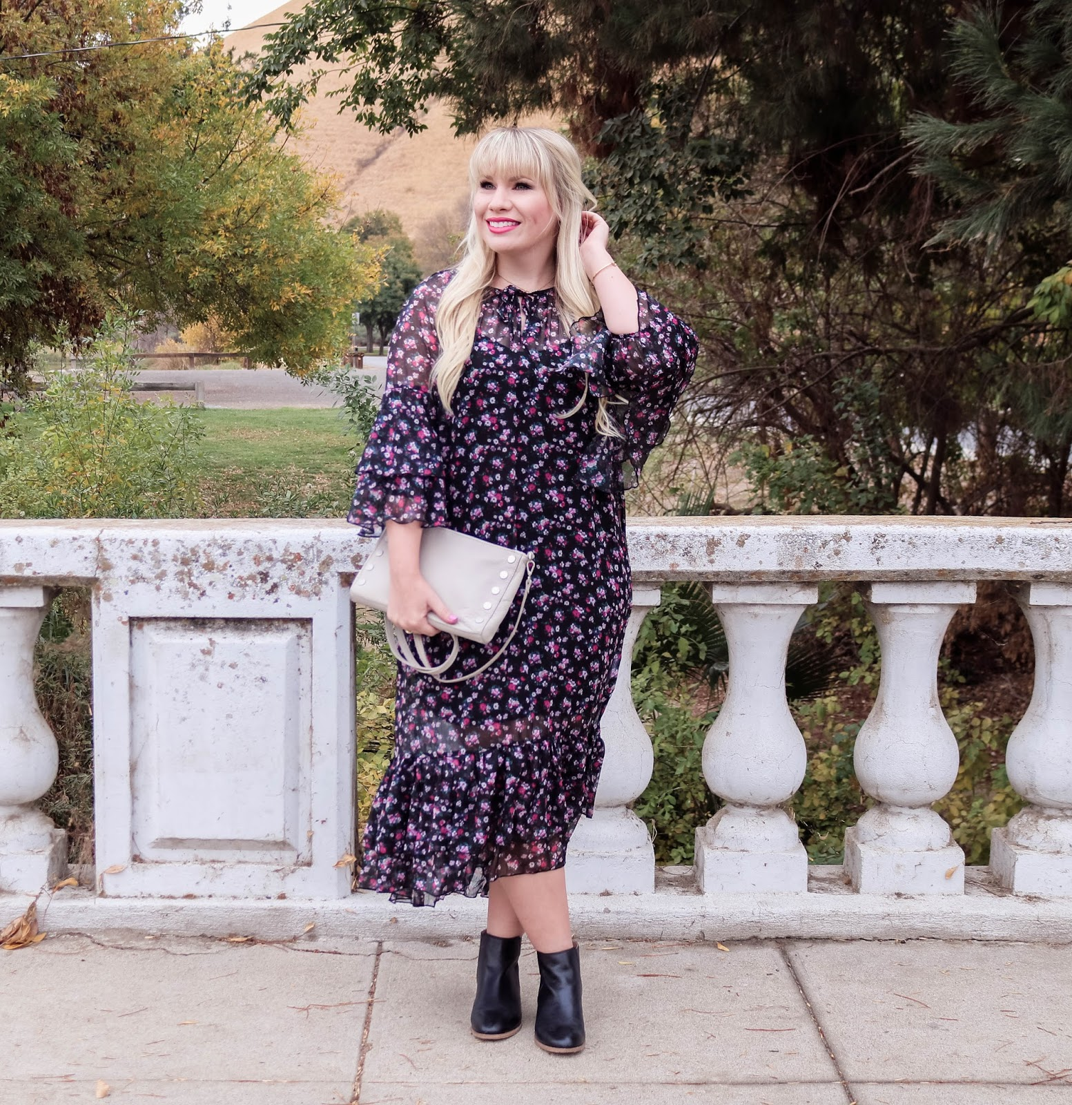 Dark Floral Dress & Giveaway