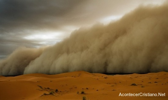 Tormenta de arena proteje a cristianos