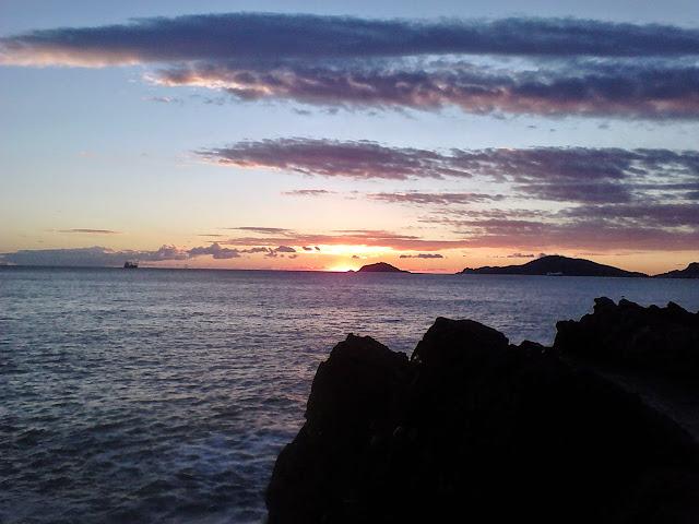 tramonto alle Cinque Terre