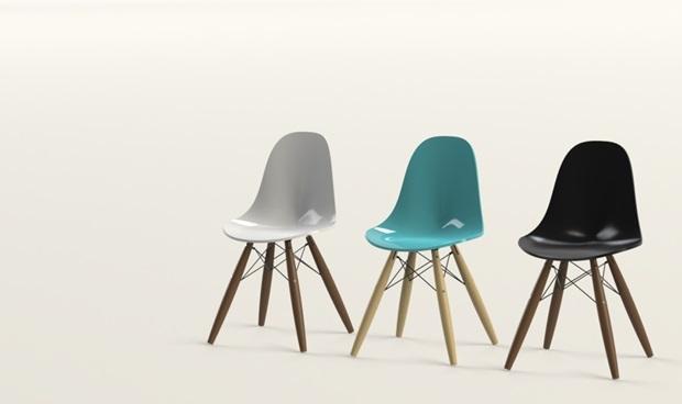 sillas eames diseñadas en 3D con Solidworks