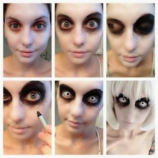 maquiagem dia das bruxas