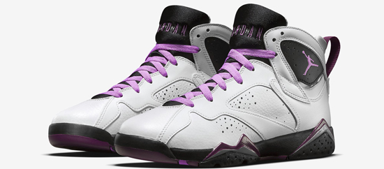 premium selection 4930d 961e6 ajordanxi Your  1 Source For Sneaker Release Dates  Girls Air Jordan 7 Retro  GG White Fuchsia Glow-Black-Mulberry Release Reminder