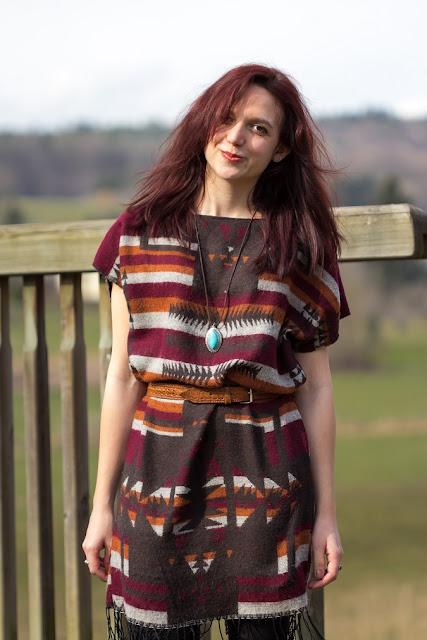 Upcycling Schal wird zu Kleid