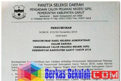 Pengumuman Hasil Seleksi Administrasi CPNS Kab Garut