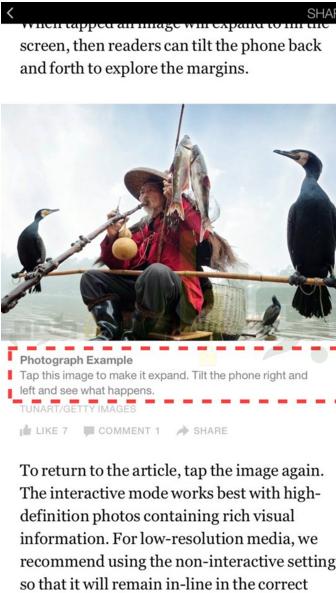 في المثال السابق، تفتقد الصورة إلى شرح توضيحي. يجب على الناشرين تضمين شروحًا توضيحية مع الصور، سواءً في أسفل الصور كما في المثال التالي، أو أعلاها أو في مقدمتها.