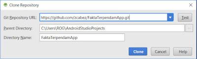 Cara Copy Project Android di GitHub ke Android Studio