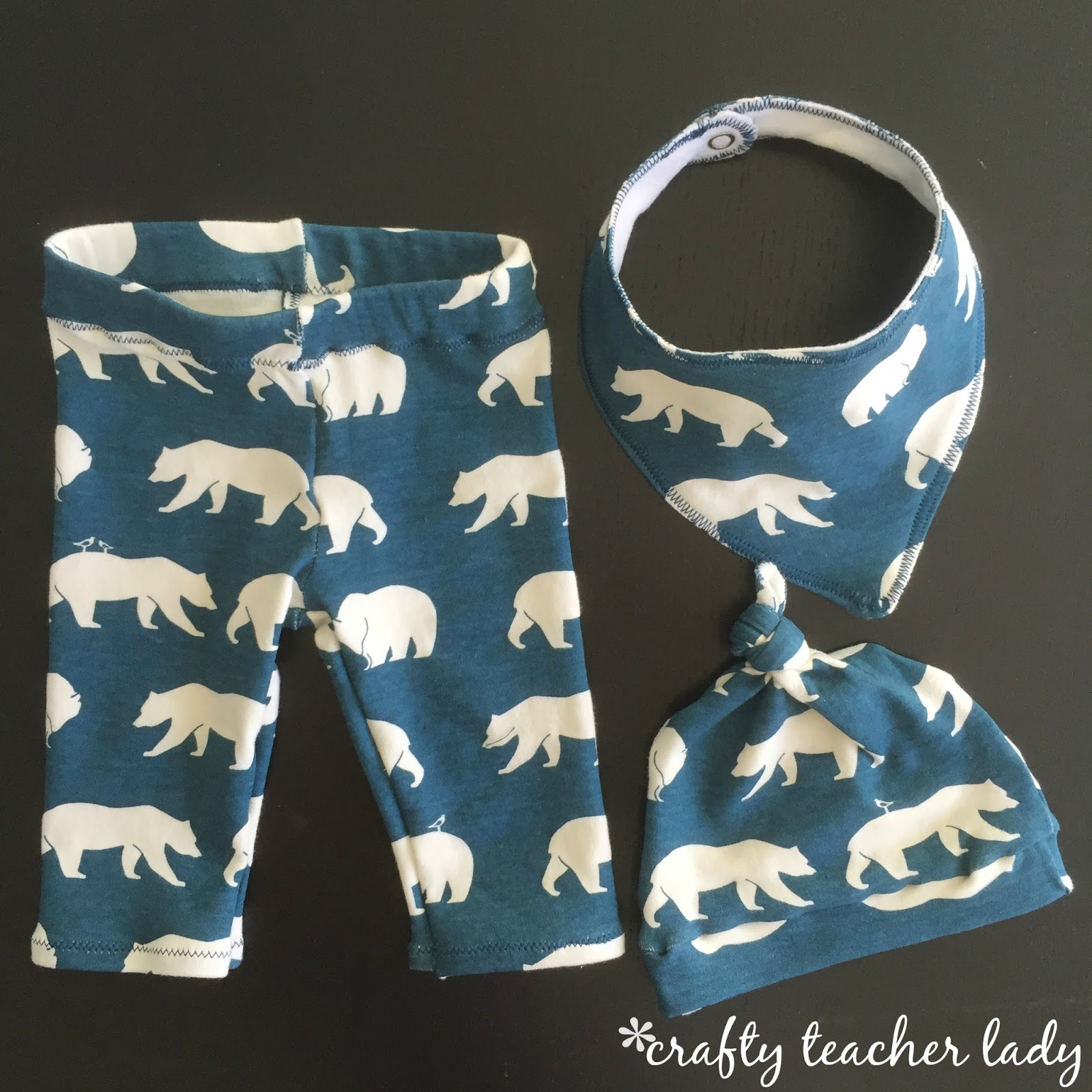Crafty teacher lady favorite childrens sewing patterns the knotted hat pattern can be found here the bandana bib pattern can be found here and the baby leggings pattern can be found here jeuxipadfo Images