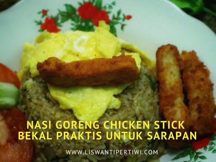 Nasi Goreng Chicken Stick, Bekal Praktis Untuk Sarapan