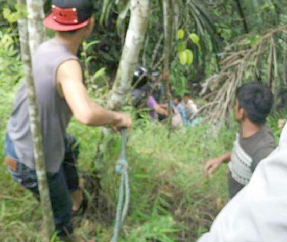 "Agoh... Pick Up ni ""Pardurian"" Masuk Lombang di Lae Pandaroh"