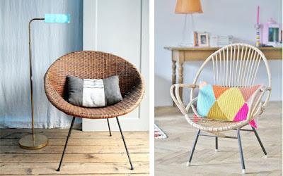 decoracion con muebles de rattan