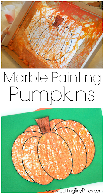 Fall or Halloween painting process art for kids