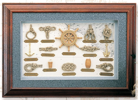 nautical knot board shadow box