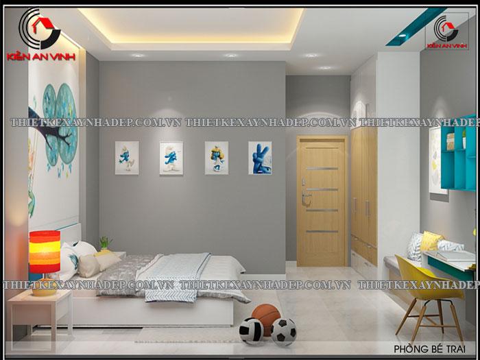 Mẫu thiết kế nhà ống 2 tầng diện tích 4x14 ở quê gia đình chị Lan Phong-ngu-be-trai3