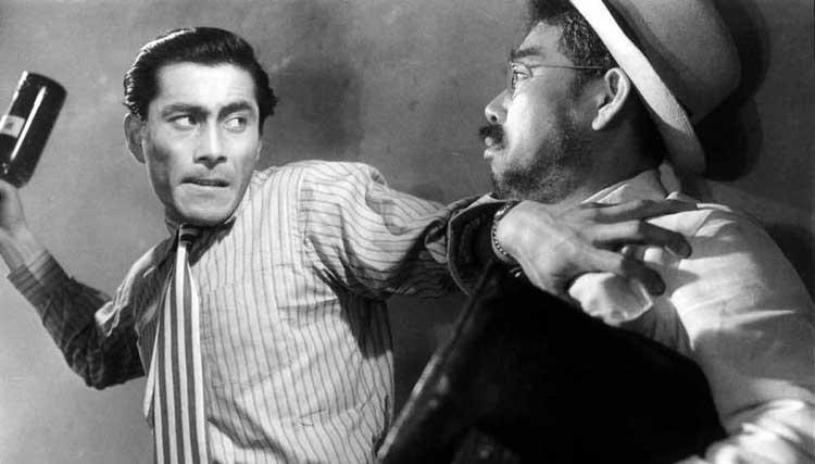 Toshiro Mifune and Takashi Shimura star in Akira Kurosawa's Drunken Angel.