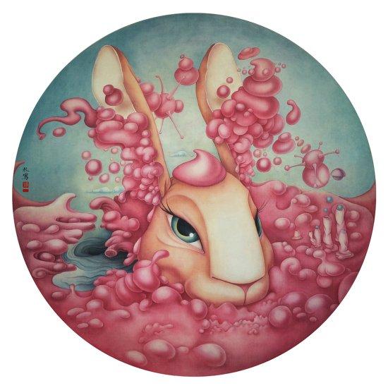Alice Lin behance arte pinturas desenhos surreais materiais tradicionais chineses