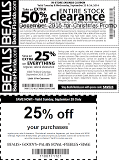 free Bealls coupons december 2016