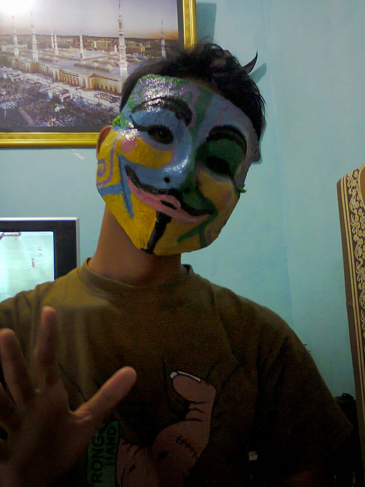 cara mudah membuat topeng anonymous. dan hasil yang sudah