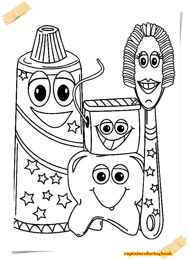 Dental coloring pages free coloring book