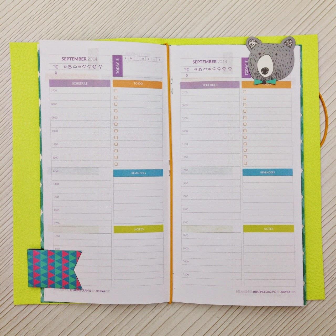 graphic regarding Free Printable Traveler's Notebook Inserts called Pleasure is Spy: Freebies⎪Happiedori No cost Printables