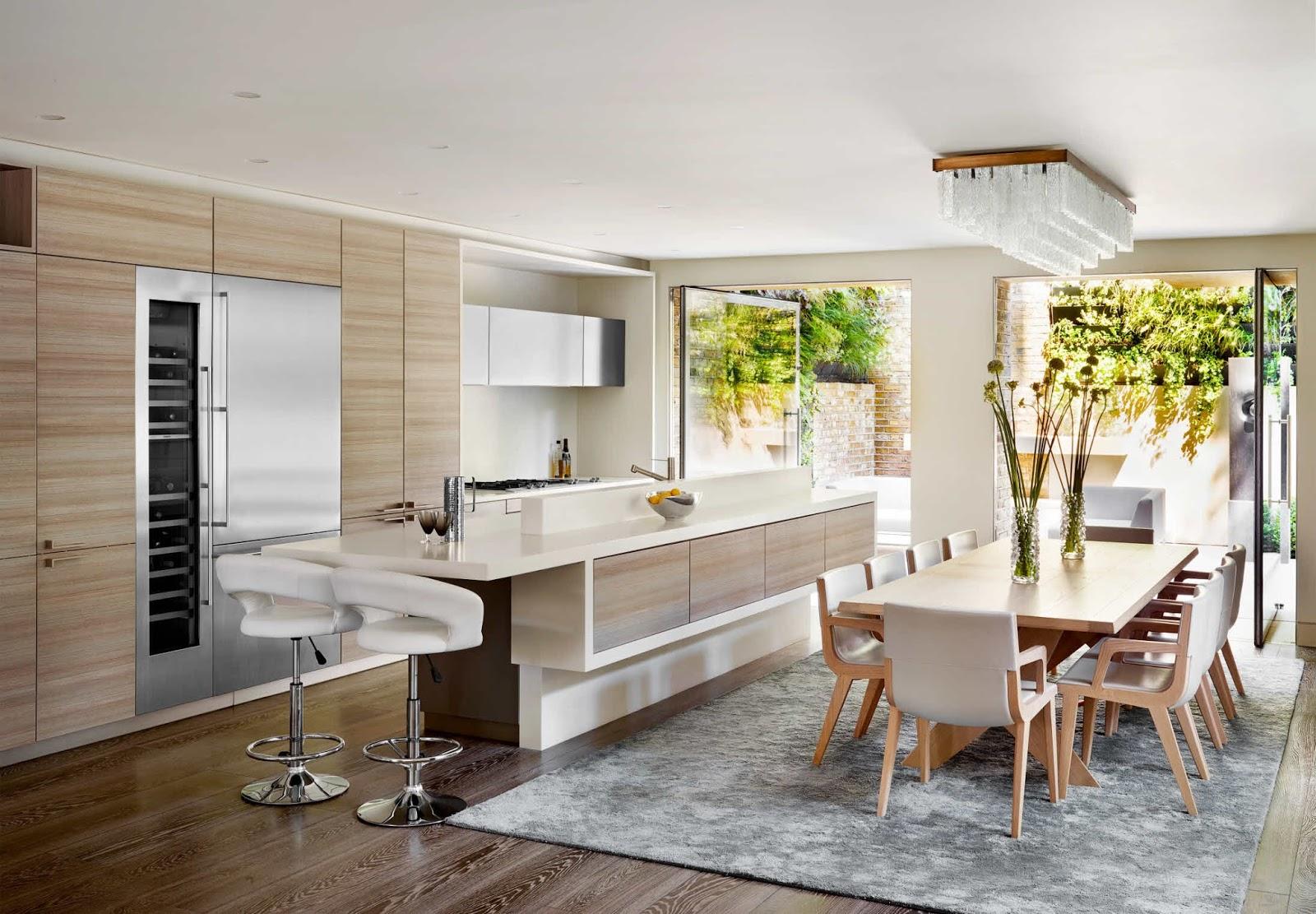 Karmarchitettura Soggiorno Cucina Open Space Living Con Angolo Cottura