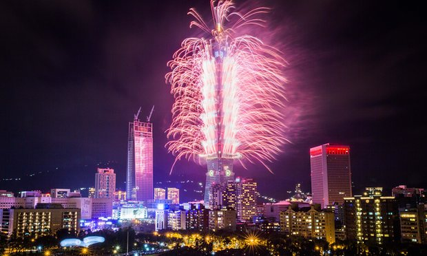 Countdown to the new year in Taipei.