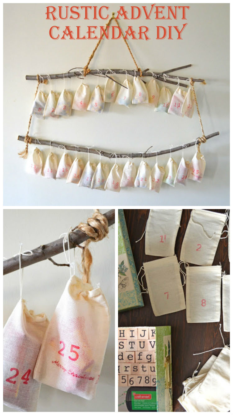 Woman in real lifethe art of the everyday rustic advent calendar diy rustic advent calendar diy solutioingenieria Images