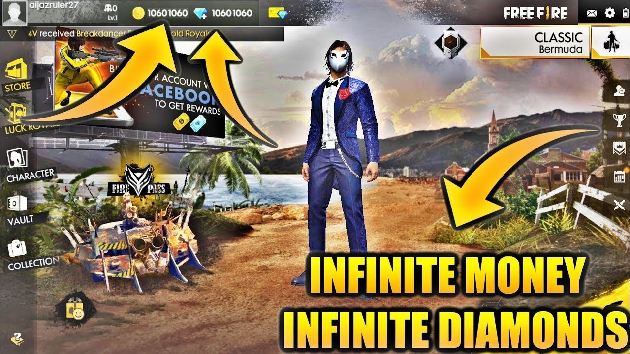 download free fire mod apk unlimited diamond coins terbaru 2019