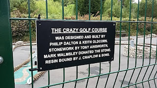 The Crazy Golf course at Grange over Sands Promenade Recreation Park. Photo by Marc Bazeley, 5th July 2017