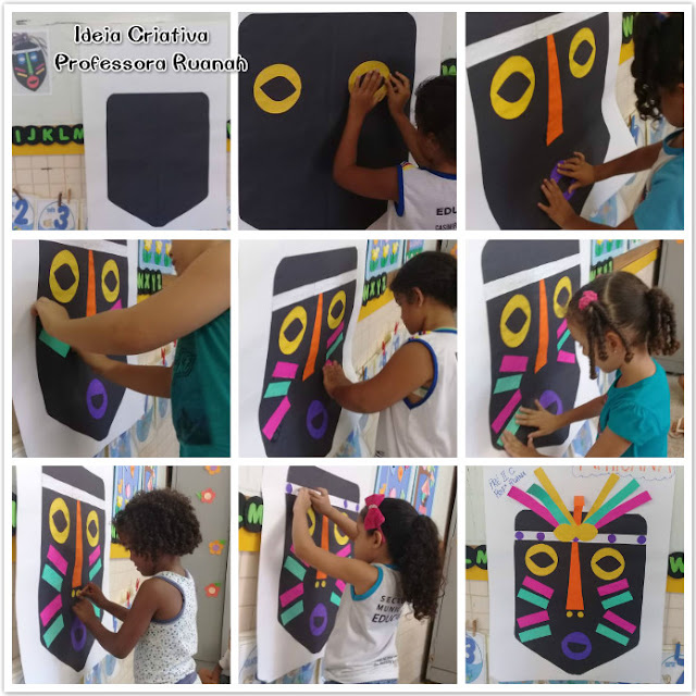 Planejamento Semanal Cultura Afro-Brasileira e Construção coletiva  de Máscara Africana