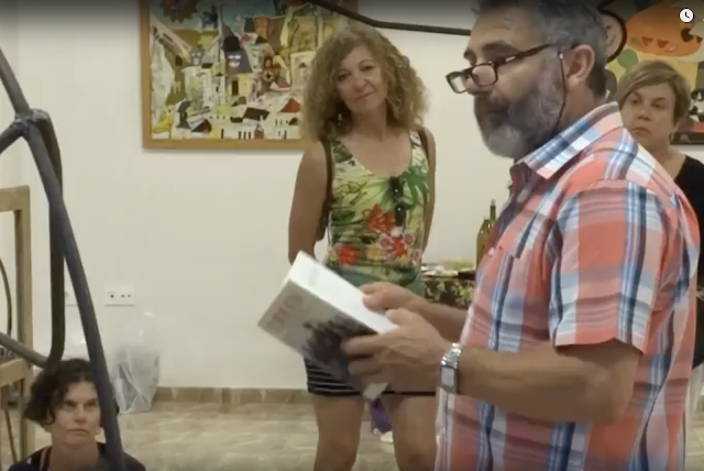 FRANCISCO CHECA recita sus poemas en ESPACIO ARTESUR Berja