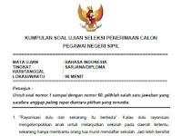 Soal Ujian Seleksi CPNS 2015 (Soal Bahasa Indonesia)