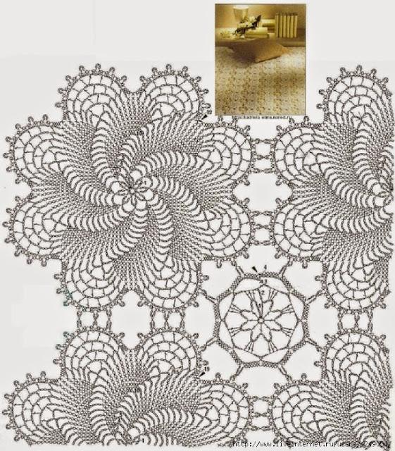 Patrones de colchas a crochet para adornar los dormitorios | Crochet