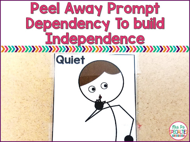 Our students have a lot of needs and very often have come to us with some level of prompt dependency. It is imperative that we be thoughtful about how to peel away those supports while building independence and functional skills.