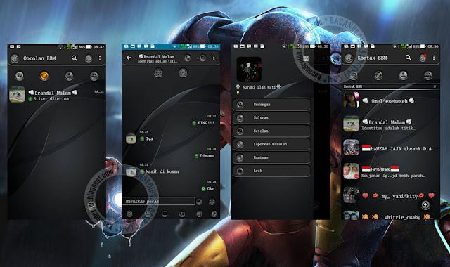 download BBM Mod Tema Dark Grey Update Versi 2.12.0.9 Apk New