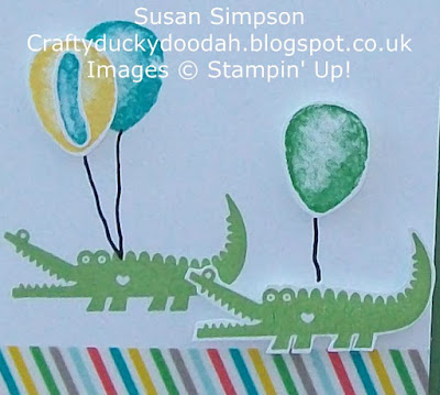 Stampin' Up! UK Independent Demonstrator Susan Simpson, Craftyduckydoodah!, Balloon Builders, Zoo Babies, Supplies available 24/7,