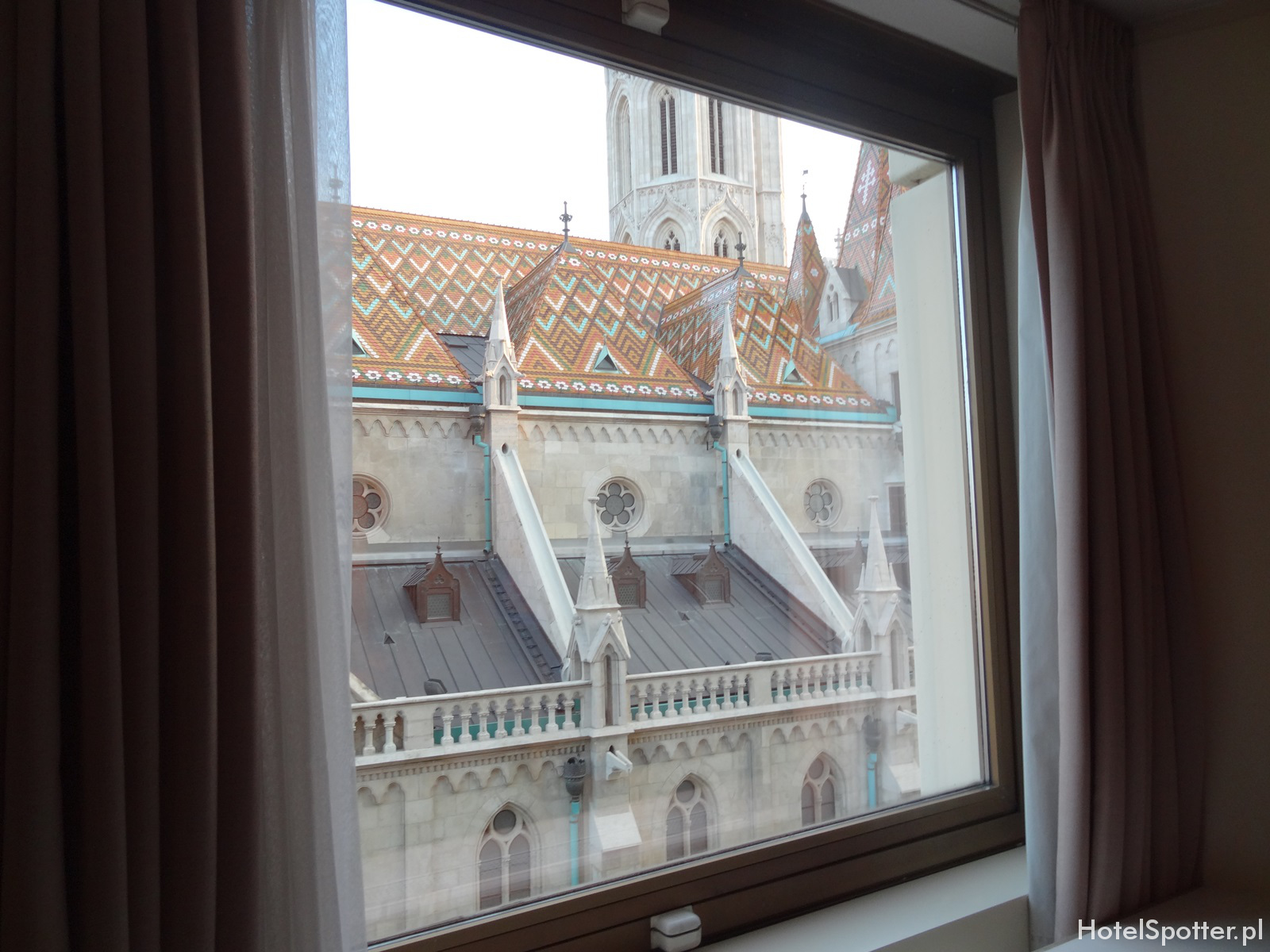 Hilton Budapest hotel recenzja review widok z okna