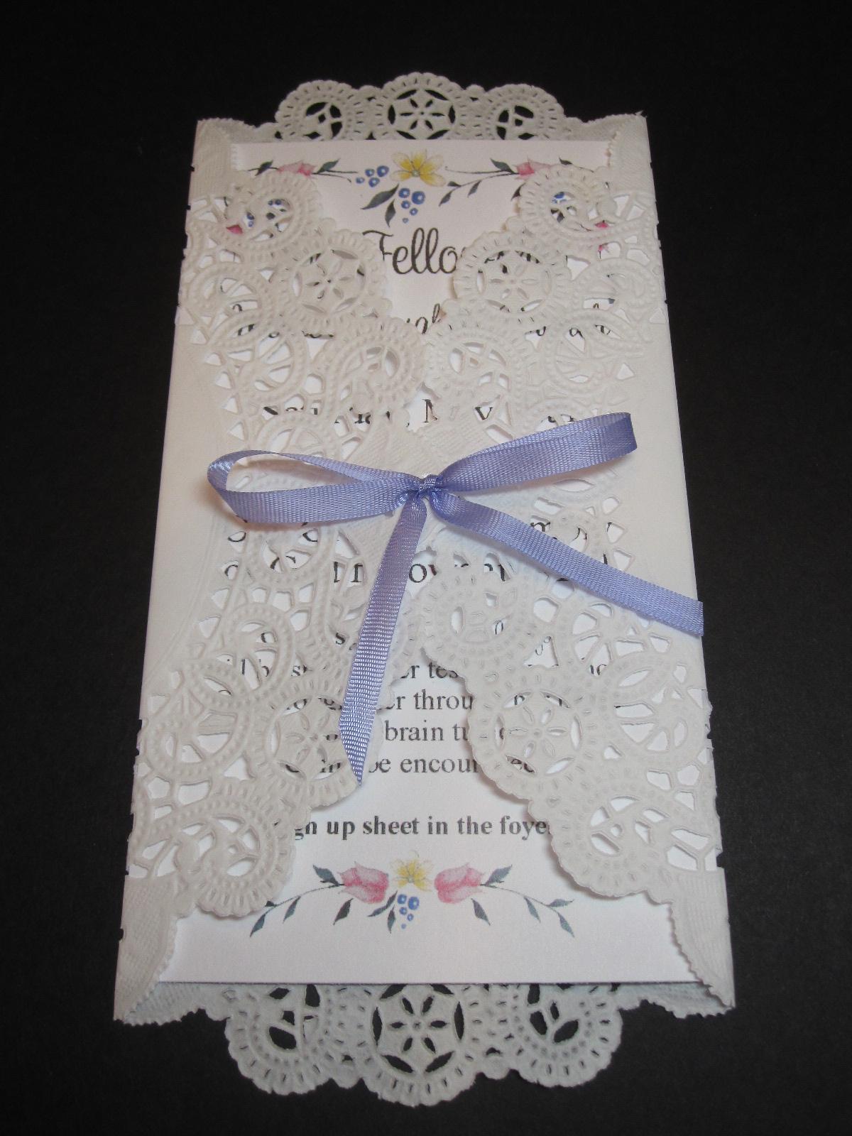 Convite Para Primeira Comunhão Ou Batizado Com Envelope De Doily