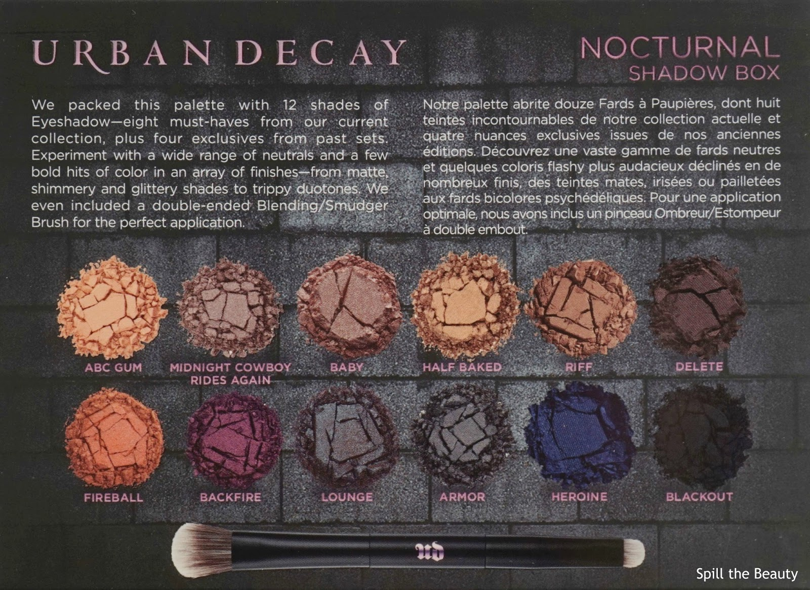 urban decay nocturnal shadow box vice lipstick nonsense fireball swatches