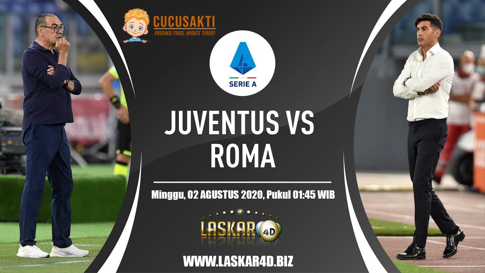 Prediksi Juventus Vs AS Roma Minggu 02 Agustus 2020
