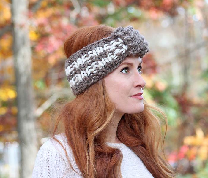 Easy Stripe Headband [knitting pattern] - Gina Michele