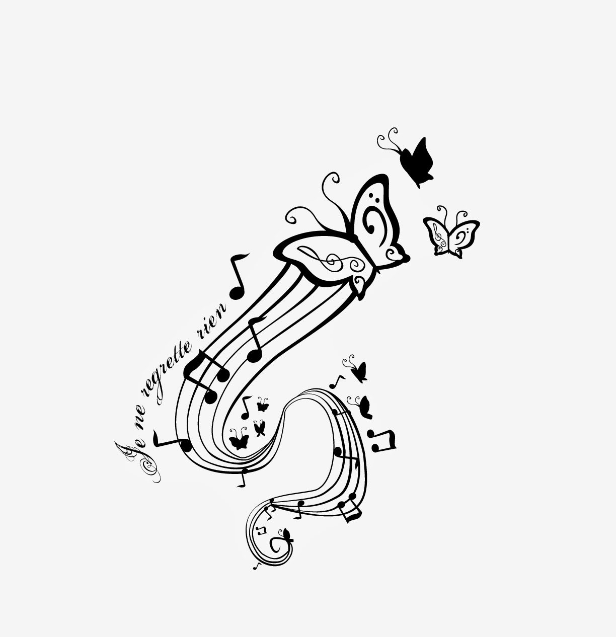 Butterfly With Music Notes Related Keywords Suggestions