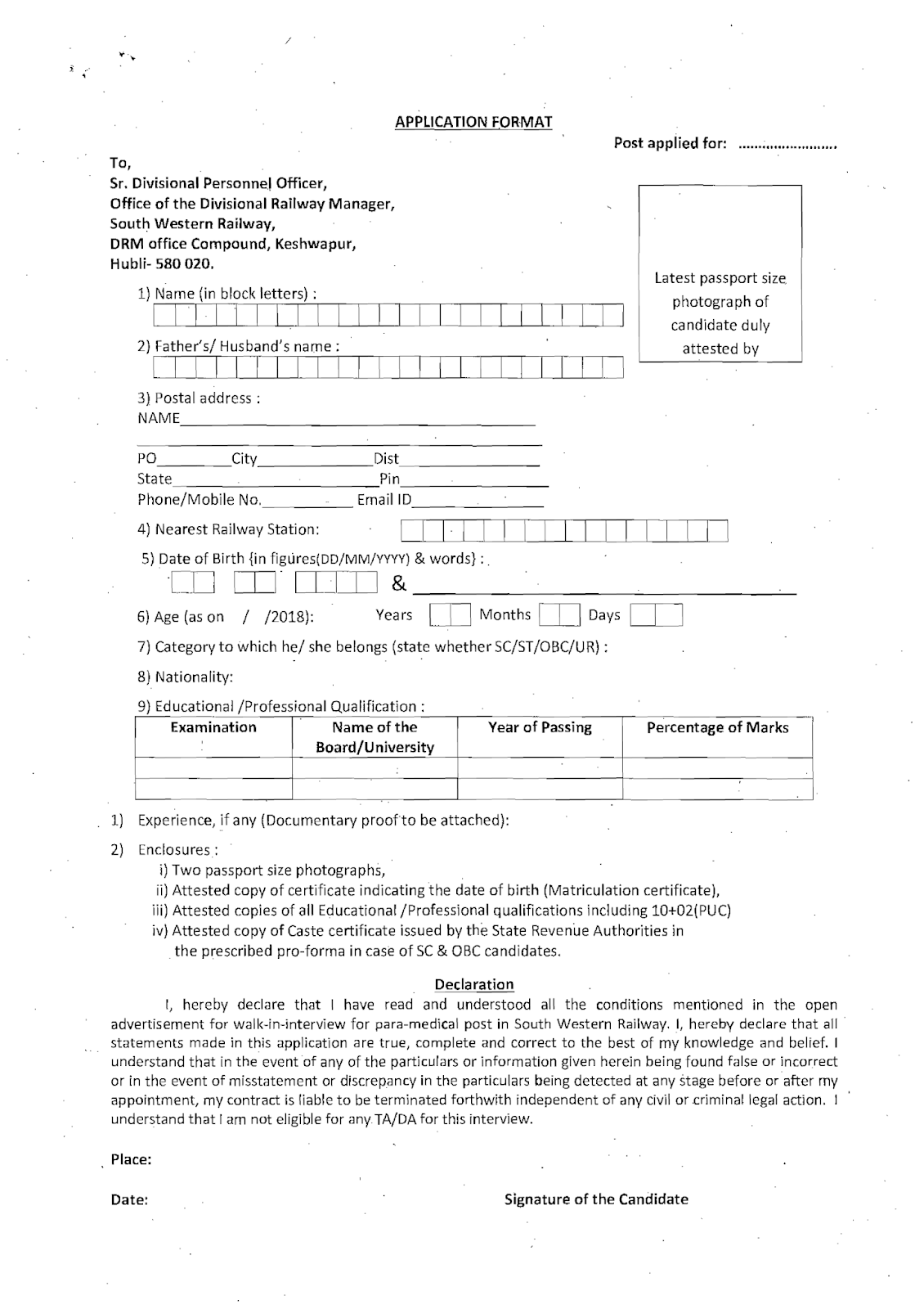 NURSING JOBS: Railway Staff Nurses Recruitment- Last date 05