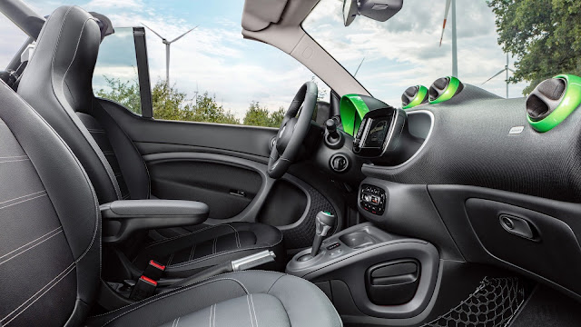 Interior del Smart ForTwo Electric Drive
