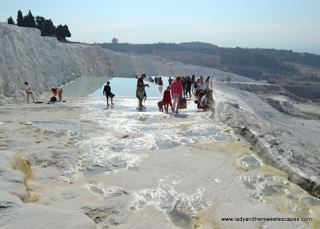 Tourists in Pamukkale